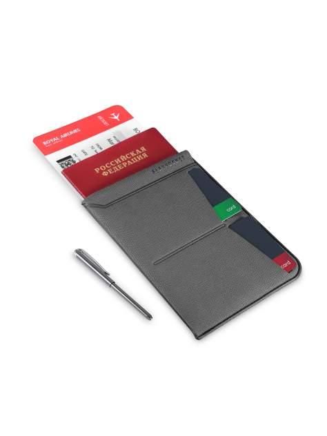Универсальная обложка для паспорта с шариковой ручкой Flexpocket KOP-04UP серая
