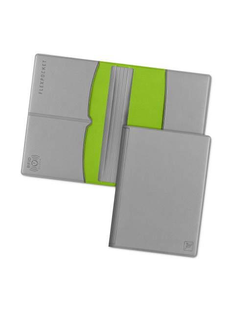 Обложка для паспорта с RFID защитой Flexpocket KOP-03RFID серая