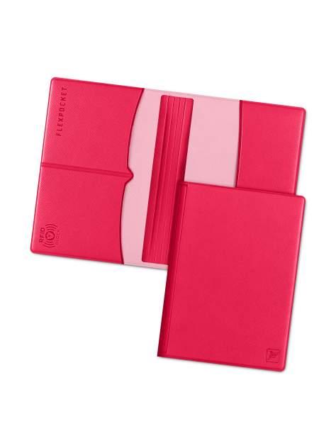 Обложка для паспорта с RFID защитой Flexpocket KOP-03RFID розовая