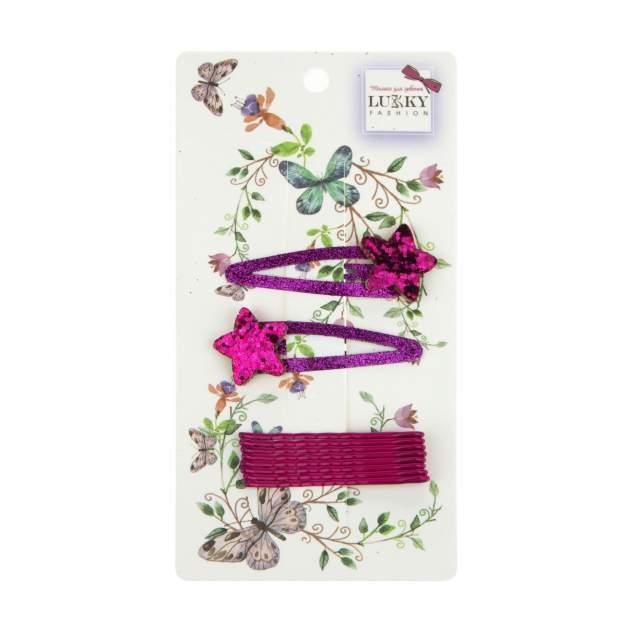 Заколка для волос Lukky Fashion розовый Т18544
