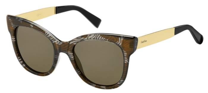 Солнцезащитные очки женские Max Mara MM TEXTILE, коричневые/коричневые