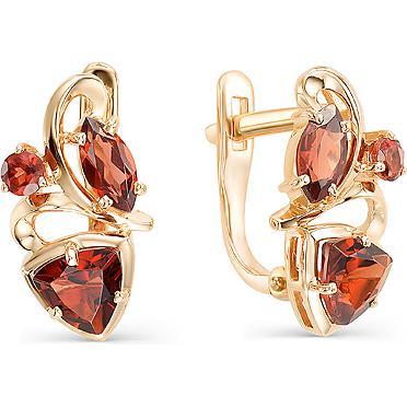 Серьги женские из золота Magic Stones 02-1-877-0300-010, гранат