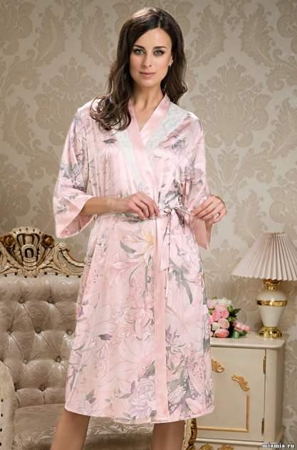 Шелковый халат женский Mia-Amore 5959, розовый
