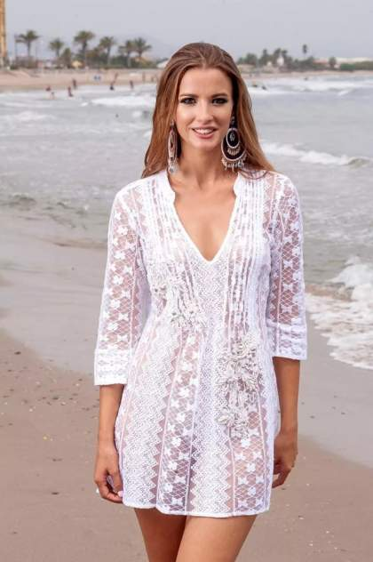 Туника пляжная Fresh Cotton 1326-1c, белый
