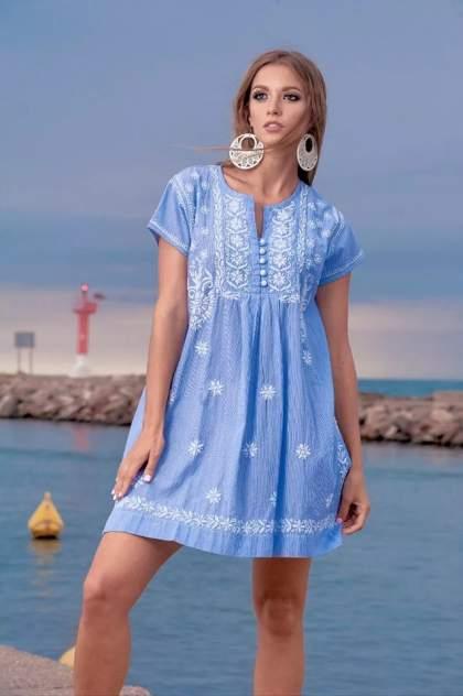 Туника пляжная Fresh Cotton 1349-1c, голубой