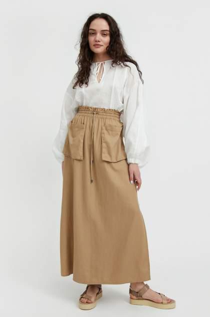 Женская юбка Finn Flare S21-12074, бежевый