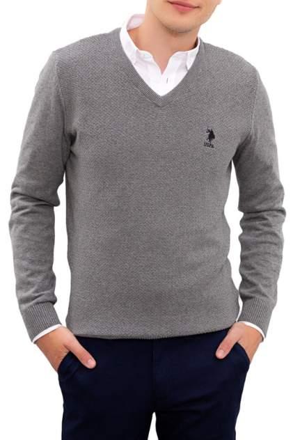 Пуловер мужской U.S. POLO Assn. G081SZ0TK0TCDUNI-BSK20 серый 54