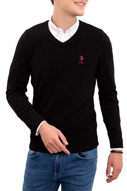 Пуловер мужской U.S. POLO Assn. G081SZ0TK0TCDUNI-BSK20 черный 54