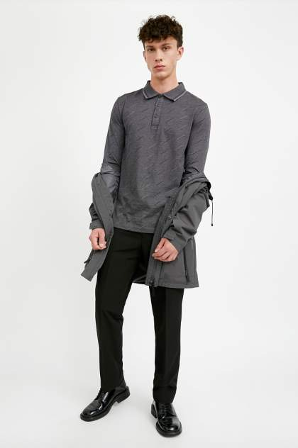 Лонгслив-поло мужской Finn Flare A20-42022 серый 3XL