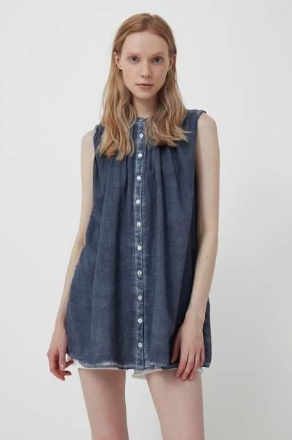 Блуза женская Finn Flare S21-14091 синяя 2XL