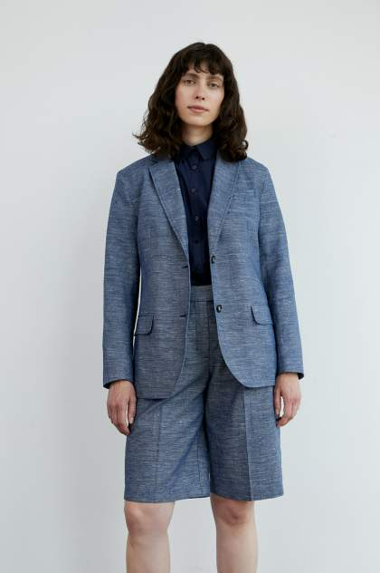 Жакет женский Finn Flare S21-11036, синий