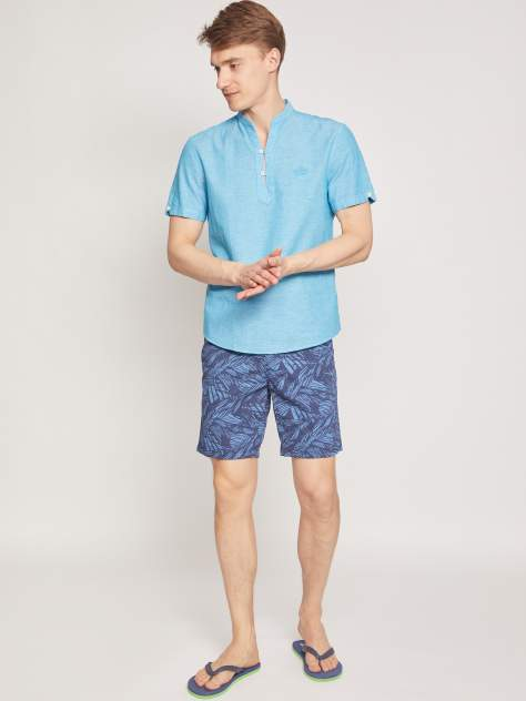 Рубашка мужская Zolla z0112522590736000 бирюзовая 4XL