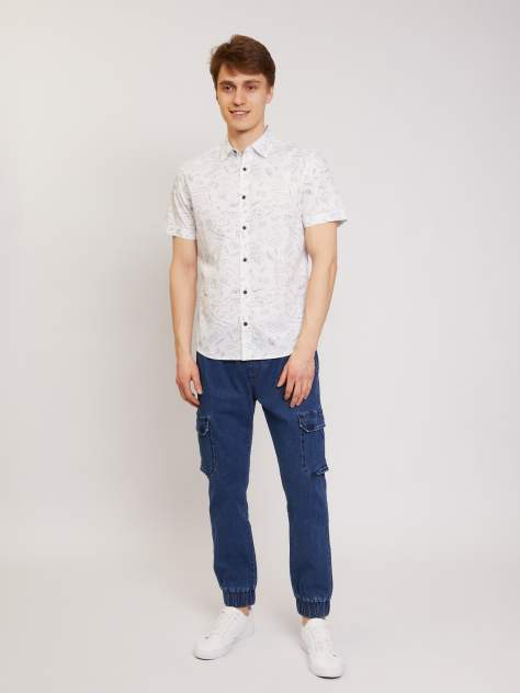 Рубашка мужская Zolla z01126227Y03301P0, белый