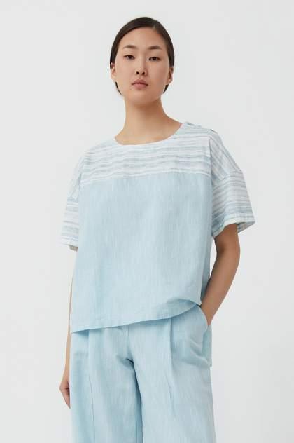 Женская блуза Finn Flare S21-14037, голубой