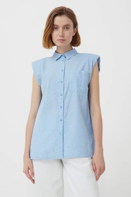 Женская блуза Finn Flare S21-14055, голубой