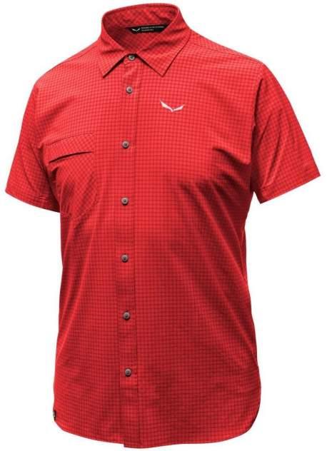 Рубашка Salewa Puez Minicheck Dry M S/S Srt, bergrot, S