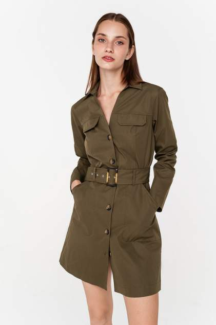 Платье женское befree 2031646504 зеленое XS