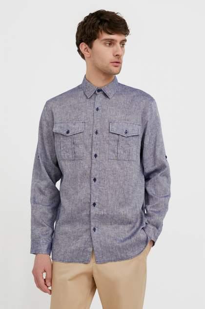 Рубашка мужская Finn Flare S21-21015, синий