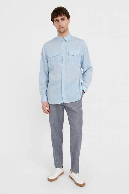 Рубашка мужская Finn Flare S21-21015, голубой