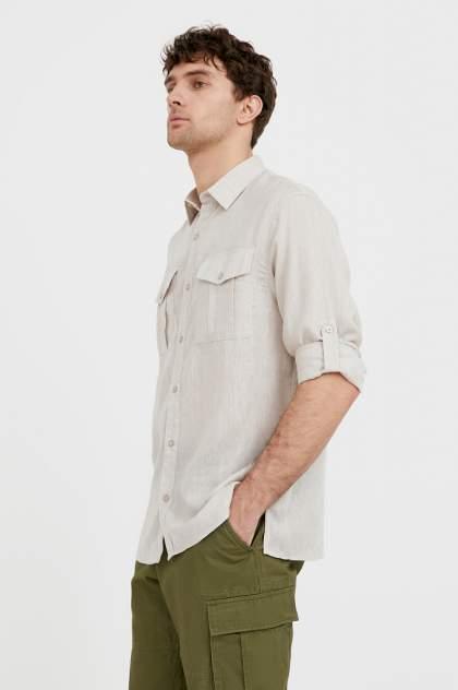 Рубашка мужская Finn Flare S21-21015, бежевый