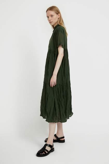 Женское платье Finn Flare S21-11069, зеленый