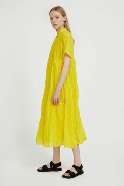 Женское платье Finn Flare S21-11069, желтый