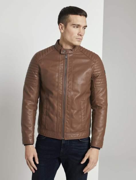 Мужская кожаная куртка TOM TAILOR 1023172, коричневый