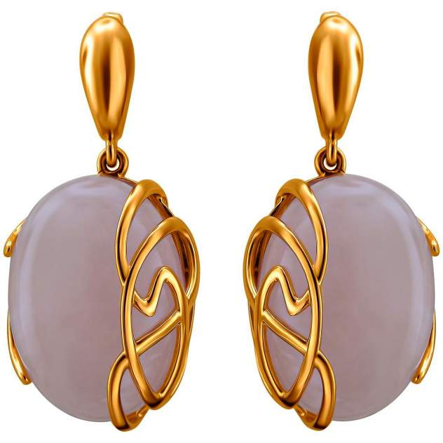 Серьги женские из серебра Эстет С15С351445П, кварц