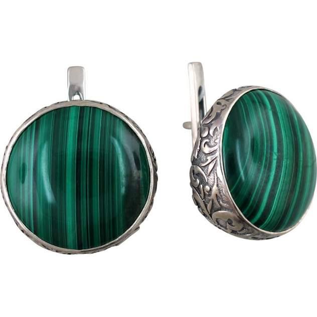 Серьги женские из серебра Эстет К3С453543АЧ, агат