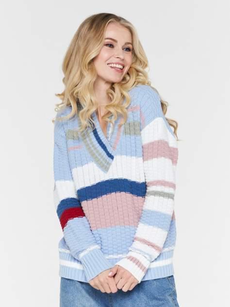 Пуловер женский BE YOU BY202-40079 голубой 48