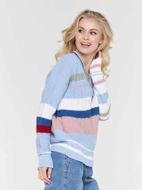 Пуловер женский BE YOU BY202-40079 голубой 46