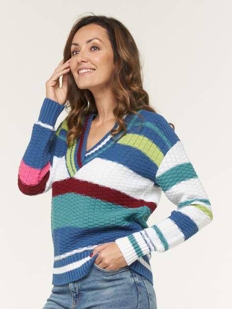 Пуловер женский BE YOU BY202-40079 синий 46