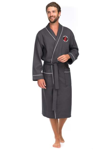 Домашний халат мужской Peche Monnaie Suprême серый XXL