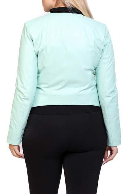 Кожаная куртка женская EXPO FUR S.7 зеленая 40