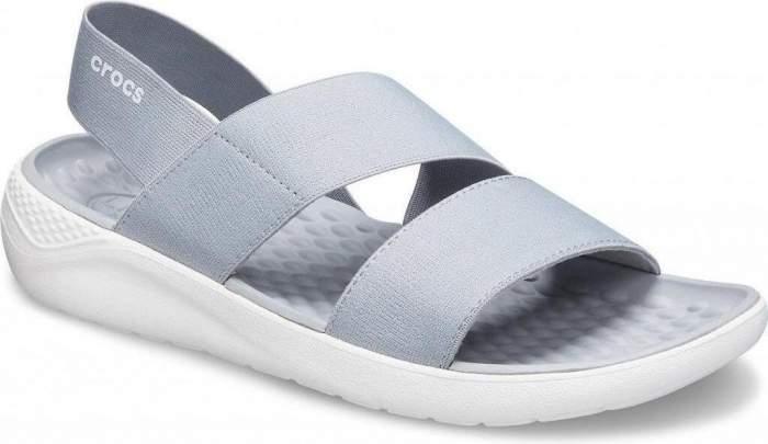 Сандалии Crocs Literide Stretch Sandal W, light grey/white, 41-42 EU
