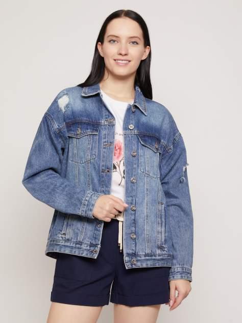 Джинсовая куртка женская Zolla z021215D1701350D0 синяя S
