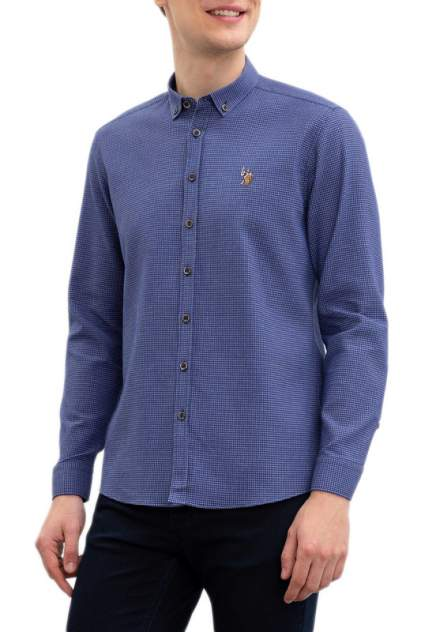 Рубашка мужская U.S. POLO Assn. G081SZ0040ALVINO синяя 2XL