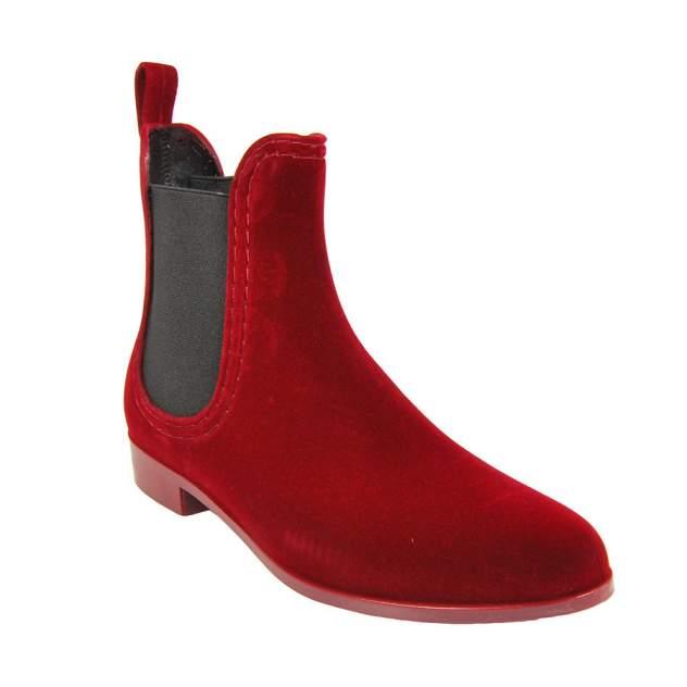 Резиновые ботинки женские MonAmi 628 бордовые 38 RU
