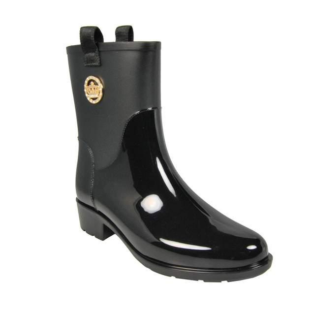 Резиновые сапоги женские Keddo 888708-01-01 черные 39 RU