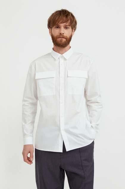 Рубашка мужская Finn Flare S21-21005, белый