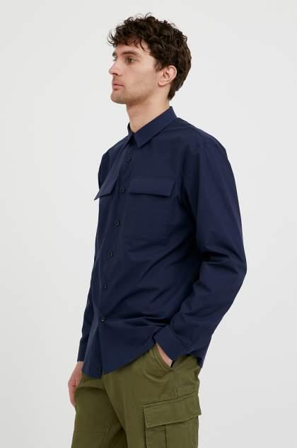 Рубашка мужская Finn Flare S21-21005, синий