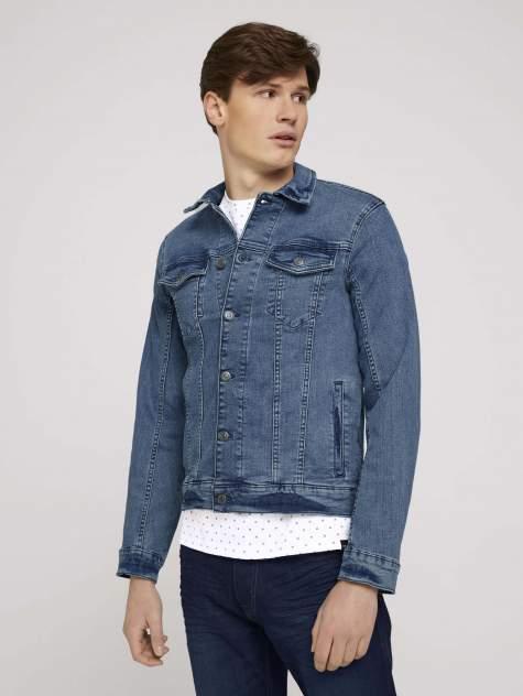 Джинсовая куртка мужская TOM TAILOR 1024903 синяя S