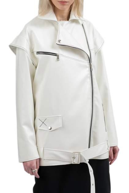 Кожаная куртка женская POLUNINA KU25LD белая M