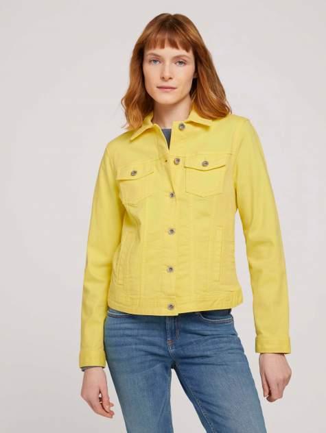 Женская джинсовая куртка TOM TAILOR 1024470, желтый