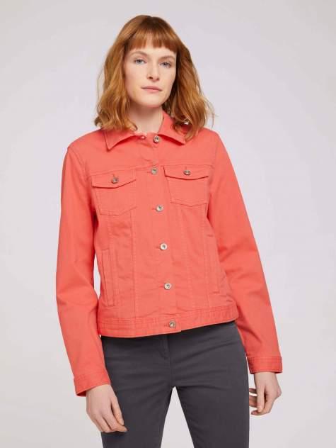 Женская джинсовая куртка TOM TAILOR 1024470, красный