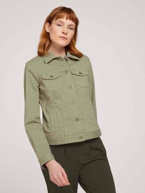 Женская джинсовая куртка TOM TAILOR 1024470, зеленый
