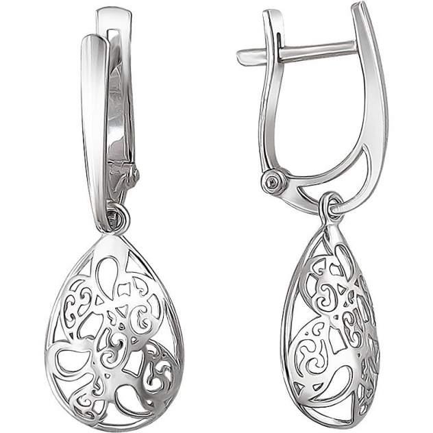 Серьги женские из серебра Эстет 01С0510498, без вставки