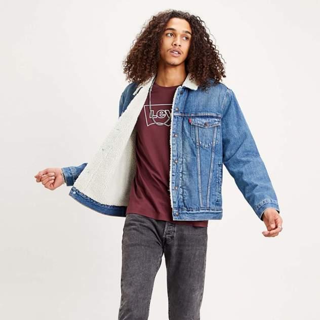Мужская джинсовая куртка Levi's Type 3 Sherpa Trucker Jacket, синий