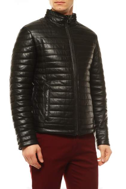 Кожаная куртка мужская VITTORIO VENETO VVA-45 черная 48