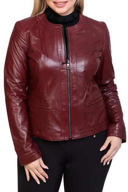Кожаная куртка женская EXPO FUR S.12 красная 38